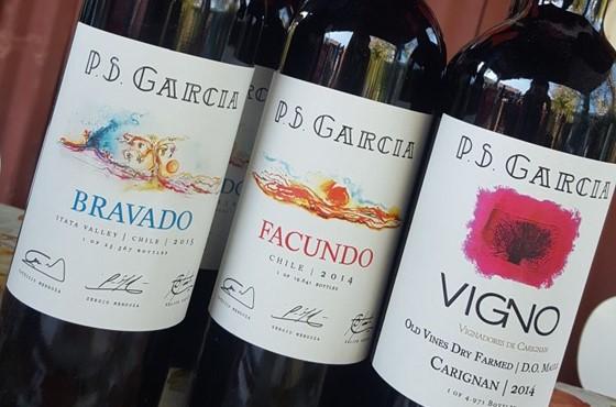 3 Rotweinflaschen vom Weingut P.S. Garcia