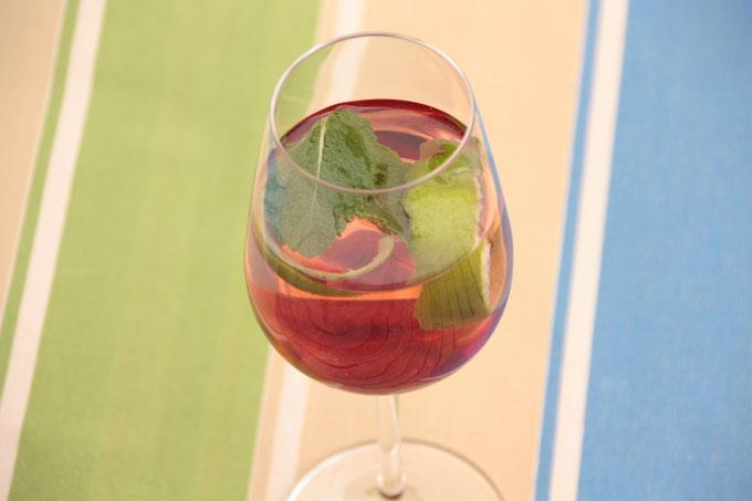 Glas mit Cape Cocktail