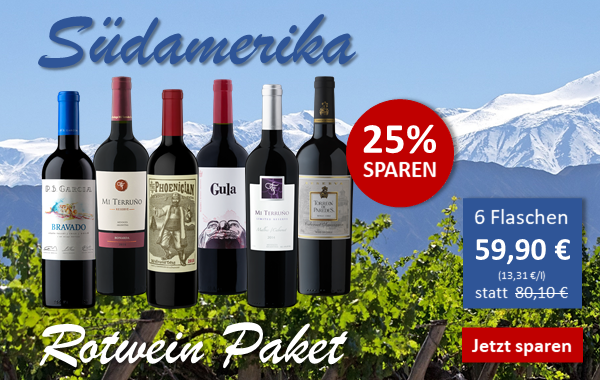 Suedamerika Rotweinpaket