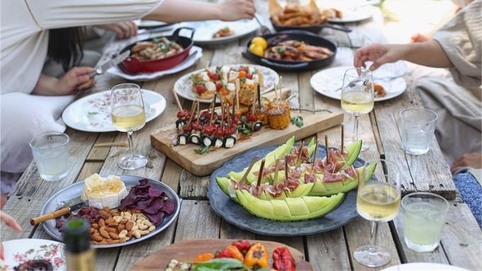 Wein zum Essen geniessen